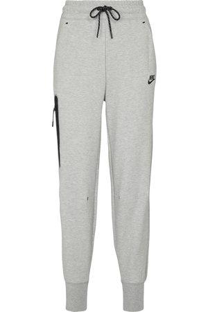 Nike Pantaloni sportivi a vita alta in misto cotone