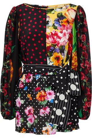 Dolce & Gabbana Blusa a stampa in seta crêpe de chine