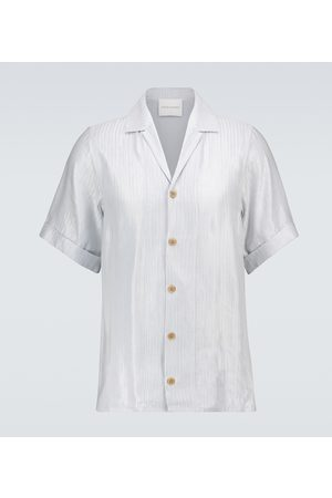 King and Tuckfield Camicia bowling in misto lino