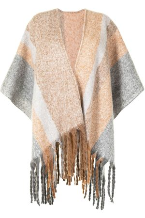 Unreal Fur Donna Giacche - Poncho Ecuador con frange