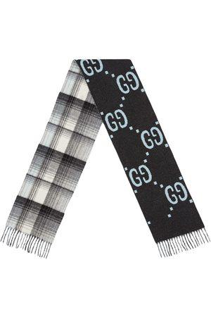 Gucci Sciarpa con quadri e monogramma GG
