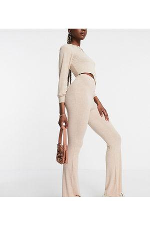 Missguided Pantaloni a zampa beige in coordinato-Neutro