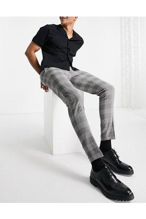 ASOS Pantaloni eleganti super skinny neri a quadri Principe di Galles