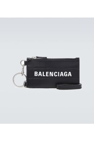 Balenciaga Portacarte su portachiavi Cash