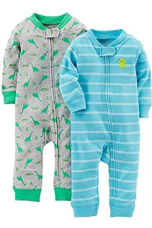 Simple Joys by Carter's Tutina - Bebè maschietto verde Dino/Light Blue Stripe Newborn