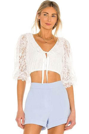 For Love & Lemons Loretta Cropped Blouse in - . Size L (also in XS, S, M).