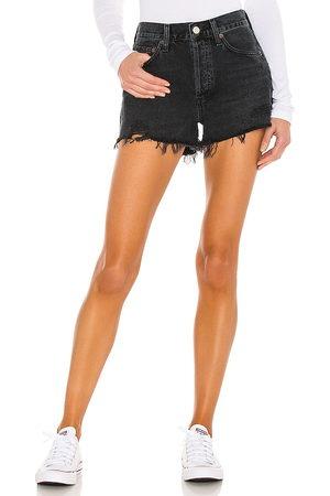 AGOLDE Donna Pantaloncini - Parker Short in - Black. Size 23 (also in 24, 25, 26, 27, 28, 29, 30, 31, 32, 33).