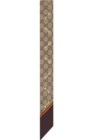 Gucci Cravatta con morsetto GG - Toni neutri