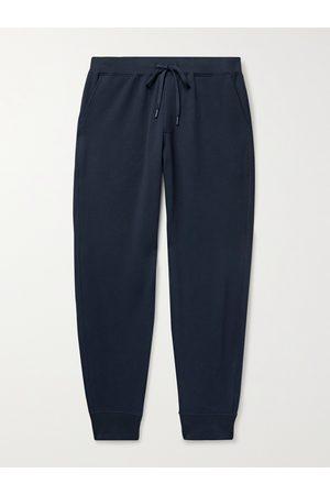 HANDVAERK Flex Tapered Loopback Pima Cotton-Blend Jersey Sweatpants