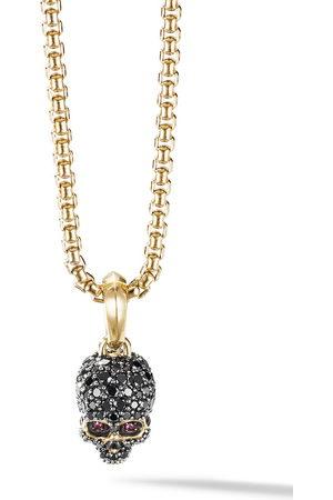 David Yurman Uomo Collane - Amuleto in 18kt yellow gold diamond pavé Skull