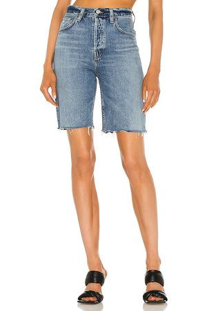 AGOLDE Donna Pantaloncini - 90's Pinch Waist Short in - Blue. Size 23 (also in 24, 25, 26, 27, 28, 29, 30, 31, 32, 33, 34).