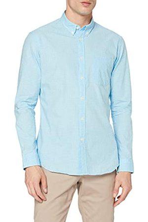MERAKI Marchio Amazon - Camicia Slim Fit in Cotone a Maniche Lunghe Uomo, , M, Label: M