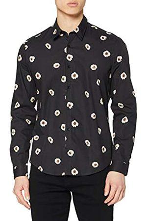 FIND Uomo Elegante - Marchio Amazon - Camicia Elegante con Stampa Floreale Uomo, , 39 cm, Label: M
