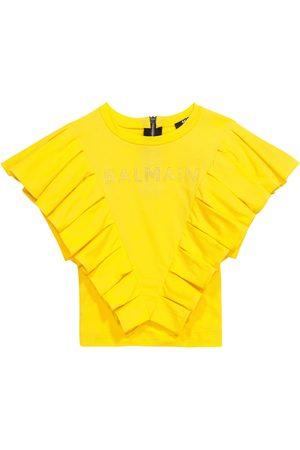 Balmain T-shirt in cotone con volant