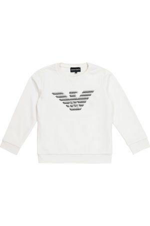 Emporio Armani Felpa in misto cotone con logo