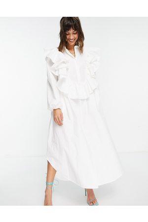 ASOS EDITION Vestito camicia oversize con volant