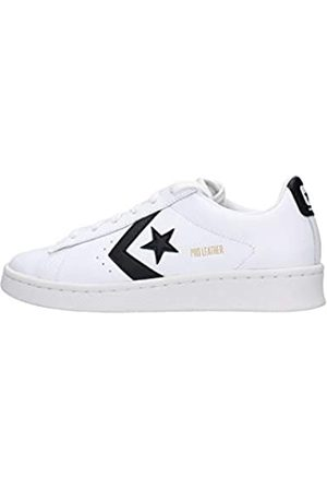 Converse PRO Leather Colorblock-Ox, Scarpe da Ginnastica Unisex-Adulto, White/Black/White, 45 EU