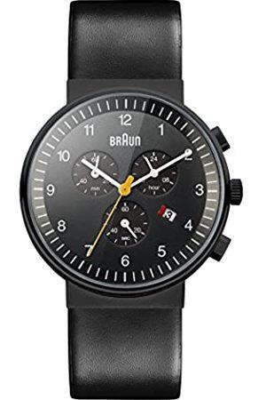 von Braun Orologio Cronografo al Quarzo Uomo con Cinturino in Pelle BN0035BKBKG
