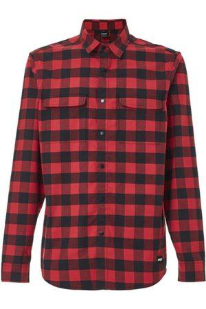 Oakley Uomo Camicie a maniche lunghe - Checkered Ridge Long Sleeve - camicia MTB - uomo. Taglia S