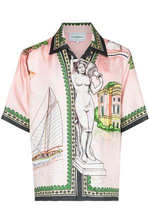 Casablanca Camicia Lago de Casa x Browns 50