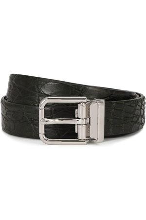 Dolce & Gabbana Uomo Cinture - Cintura con fibbia goffrata