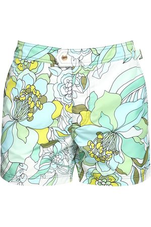 Tom Ford Shorts Mare In Nylon Stampa Floreale