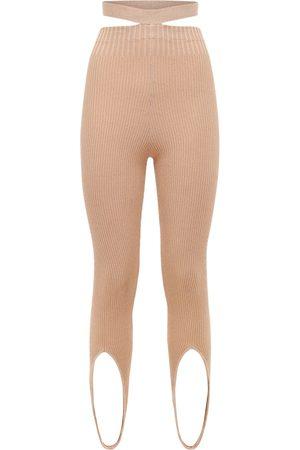 ANDREA ADAMO Donna Leggings & Treggings - Leggings In Maglia Di Misto Viscosa A Costine