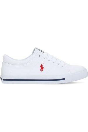 Ralph Lauren Bambino Sneakers - Sneakers In Tela Di Cotone Con Logo