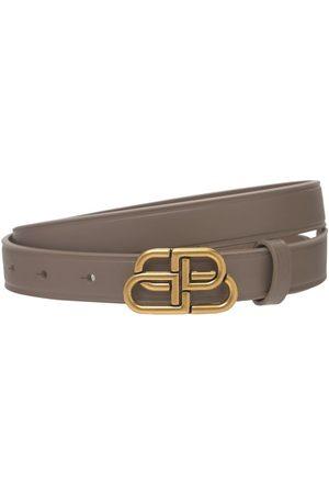 Balenciaga Donna Cinture - Cintura In Pelle Con Logo 2cm