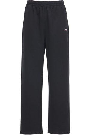 Balenciaga Pantaloni In Felpa Di Cotone Con Logo
