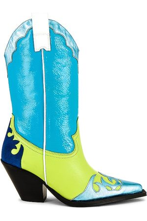 Toral Western Boot in - Turquoise. Size 36 (also in 37, 38, 39, 40, 41).