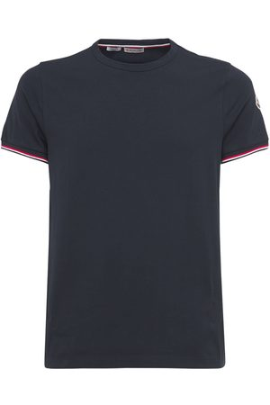 Moncler T-shirt In Jersey Di Cotone Stretch