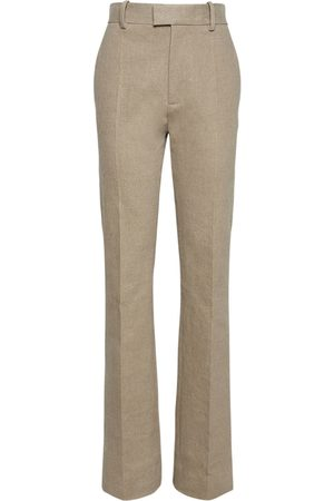 Bottega Veneta Pantaloni In Tela Di Lino Stretch