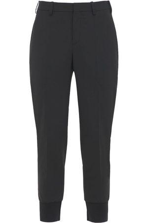 Neil Barrett Pantaloni Slim Fit In Gabardina Di Lana Stretch
