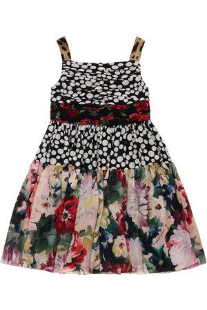 Dolce & Gabbana Bambina Vestiti stampati - Vestito In Seta Georgette Stampato