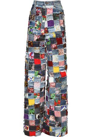 Dolce & Gabbana Jeans In Denim Patchwork Jacquard