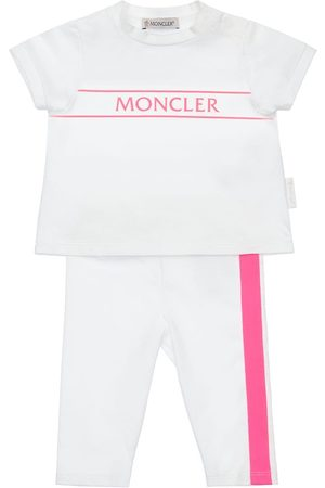 Moncler Bambina Leggings & Treggings - T-shirt E Pantaloni In Jersey Di Cotone