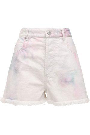 "Isabel Marant Shorts ""lesiabb"" In Denim Candeggiato"