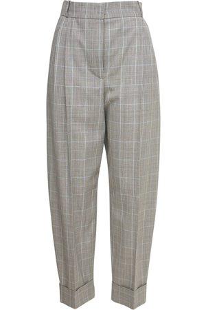 Alexander McQueen Donna Eleganti - Pantaloni Cropped In Lana Principe Di Galles