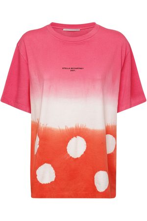 Stella McCartney T-shirt In Jersey Di Cotone Organico Tie Dye