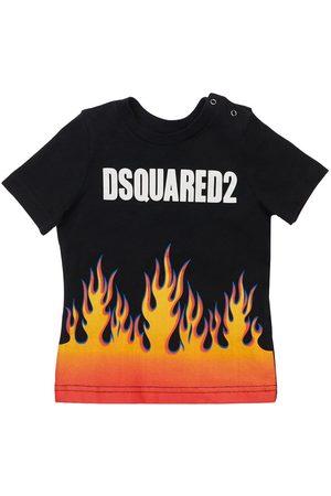 Dsquared2 T-shirt In Jersey Di Cotone Stampato
