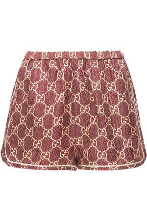 Gucci Donna Pantaloncini - Shorts In Twill Di Seta