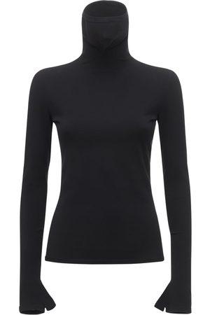 Balenciaga Donna Collo alto - Maglia Collo Alto In Jersey Con Maschera