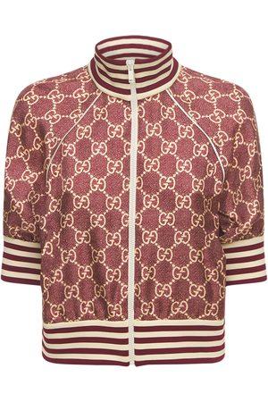 Gucci Giacca In Twill Di Seta Stampata