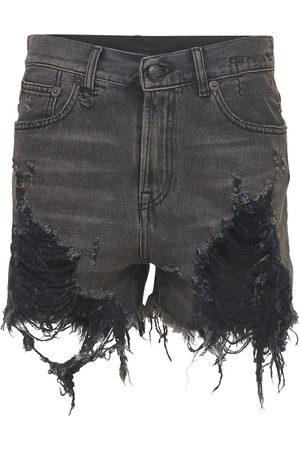 R13 Shorts In Denim Di Cotone Distressed