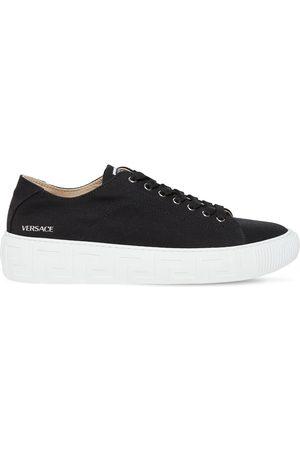 VERSACE Sneakers In Tela Stampa Greca