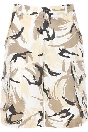Kenzo Uomo A zampa & Bootcut - Shorts Cargo In Ripstop Camouflage
