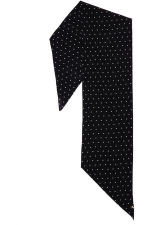 Saint Laurent Sciarpa In Seta A Pois
