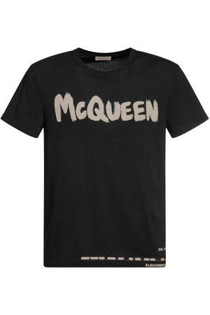 Alexander McQueen T-shirt In Cotone Con Logo