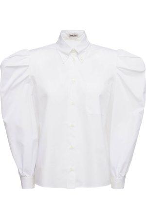 Miu Miu Camicia In Popeline Di Cotone
